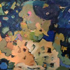 "Cosmic Blues 24""x30""  acrylics on canvas"