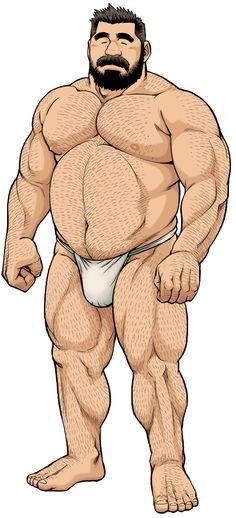 Big Burly MuscleBull Illustration