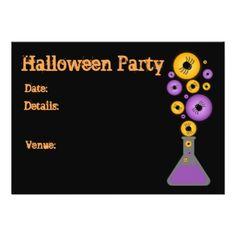 Halloween Bubbles Card - invitations custom unique diy personalize occasions