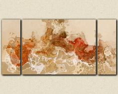 Abstract art 30x60 to 40x78 triptych gallery by FinnellFineArt, $375.00