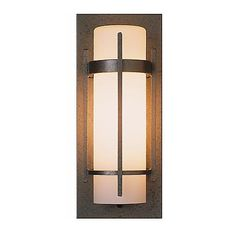 "ITEM 176, LOCATION 3A, Hubbardton Forge Banded 16"" High Outdoor Wall Light"