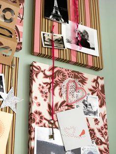 Bunte Platten an der Wand zu Hause