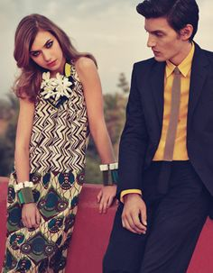 Marni for H&M. Like the yellow shirt with black suit.