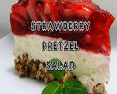 Strawberry Pretzel Salad HD photo