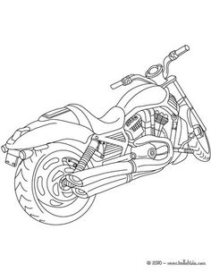 Harley chopper motorcycle coloring page | Family: Fathers ...