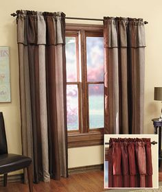 Window Panel with Attached Valance|The Lakeside Collection