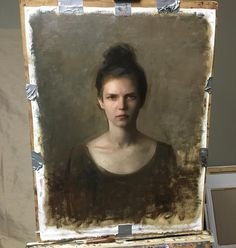 Portrait in progress. Nick Alm