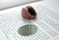 Ring made out of a book! Brilliant!