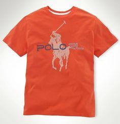 cheap polo ralph lauren Ralph Lauren Men's Big Pony Printed Short Sleeve T-Shirt Orange Red http://www.poloshirtoutlet.us/