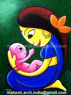 lullubi - Mother and child love. The painting shows the loving mother holding her baby with care and love. Super Easy Drawings, Art Drawings For Kids, Art Painting Gallery, Mural Painting, Lotus Artwork, Budha Painting, Mother And Child Painting, Funny Paintings, African Art Paintings