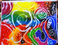 THIS IS SOOOOO COOL! Toothpaste Batik: There's a Dragon in my Art Room: elementary art toothpaste batik