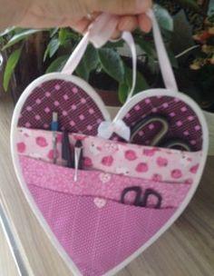 Tutorial, DIY Passo à passo do Organizador de tecido em forma de coração
