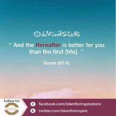 Quran (93:4)  ||►Like ||►Share ||►Comment ||►Promote ||►Spread  #IslamicQuotes #Islamic #Quran #Verse