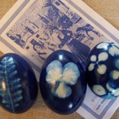 Easter Eggs made with Blue Dye
