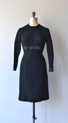 New Era dress vintage 1950s dress wool 50s dress by DearGolden