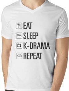 eat sleep kdrama repeat Mens V-Neck T-Shirt