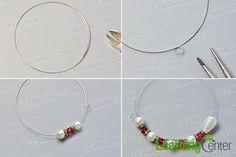 Make the basic part of the simple flower pearl bracelet