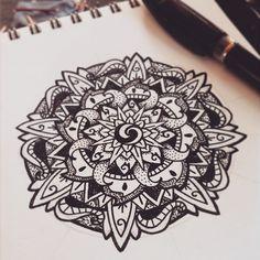 Mandala by polillatattoo
