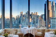 The 16-foot-high windows in this Mandarin Oriental Hotel's restaurant, Asiate, offer views of Midtown #Manhattan's sleek vertical marvels and the leafy urban oasis of Central Park.