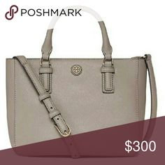 NEW Tory Burch Robinson Mini Square Tote Bag Will post more pictures. New with tags. Soft but structured leather. Length 9.3 inches. Height 7.5 inches. Depth 5.3 inches. Retail price $450 plus tax.   NO TRADES. PRICE FIRM. This is the lowest price. Ships within 1 to 2 business days. Tory Burch Bags