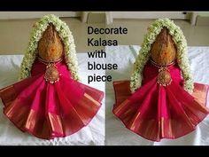 Kalash Decoration, Mandir Decoration, Ganapati Decoration, Decoration For Ganpati, Diwali Decorations At Home, Festival Decorations, Coconut Decoration, Ganesh Chaturthi Decoration, Housewarming Decorations