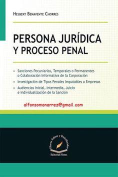 LIBROS EN DERECHO: PERSONA JURÍDICA Y PROCESO PENAL