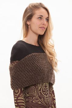 The design of this amazing fashionable knitted top ,is part of the main shop collections concept: The whole idea is that each item, including this one, will create a design upgrade to your wardrobe when worn over any dress ,T-shirt, or even over a coat (as seen in the pictures). This wrap can go over any garment according to whim and weather. Wearing this designer garment that looks like a dazzling accessory, will make you look more unique and more fashionable. this garment is flexiblel and…