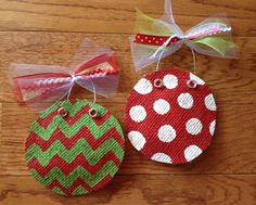 Painted Burlap Ornaments, Personalized?