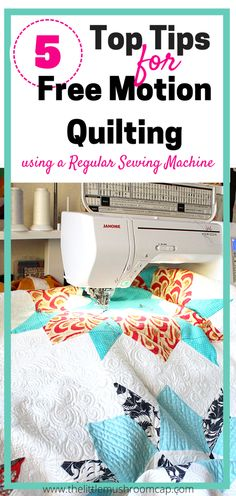 Must visit for beginner free motion quilter. Important tips for free motion quilting