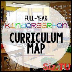 Jones's Kindergarten) Full-Year Kindergarten Curriculum Map (Mrs. Kindergarten Curriculum Map, Curriculum Mapping, Kindergarten Lesson Plans, How To Plan, Blog, Children Garden, Kindergarten, Blogging