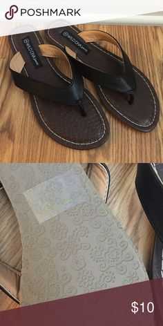 Wild Diva Flip Flops Black and brown flip flops, Size 9 Brand New! Never Worn! Wild Diva Shoes Sandals