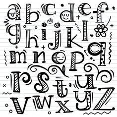 Doodle Fonts, Doodle Lettering, Creative Lettering, Lettering Styles, Graffiti Lettering, Lettering Design, Chalk Lettering, Doodle Alphabet, Hand Lettering Alphabet