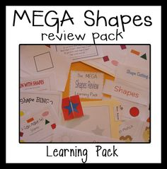 Me & Marie: Shapes for ALL! Grab these freebies!  Also, individual shapes introduced-circle, oval, square, rectangle, & triangle