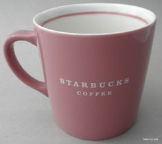 Starbucks Mug Dusty Rose with White Logo Name 15 oz 2004 loooooooove it Coffee Talk, I Love Coffee, Coffee Mugs, Starbucks Coffee, Dusty Rose, Aries, Tableware, Condo, Crafts