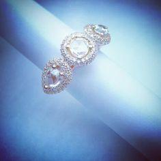 Rose Gold Diamond Ring Unique Design By ZARE JEWELLERY