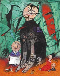 Pedro Pablo Oliva b. 1949 Genaro y su extraño amor 2013 oil on canvas, 26.7x20.7 in (68x52.7 cm).