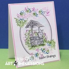 Send a sweet wish for Easter with our NEW 2018 Wishing Well Mini Set! Tricia O'Bin Created a beautiful inked oval frame to highlight may of…