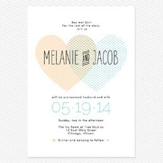 Heart to Heart Wedding Invitations