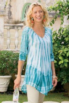 Ibiza Top - Women's Tie-dyed Top, Tie-dye Top | Soft Surroundings