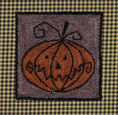 """""""Carving"""" a jack-O-Lantern has never been so fast, fun, and mess-free!  This sppoky-kooky design will add lots of fightful charm during the Halloween Season.  Measures 4 1/8"""" x 4 1/8""""."""