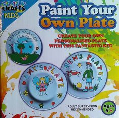 Paint your own plate - KidsnCrafts Online Store - 1 Craft Projects For Kids, Crafts For Kids, Decorative Plates, Create, Store, Tableware, Painting, Design, Home Decor