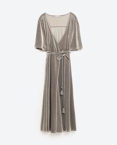 Image 8 of CROSSOVER VELVET DRESS from Zara
