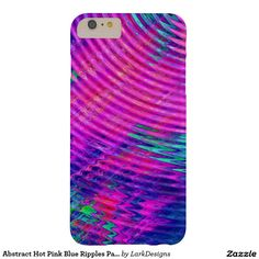Abstract Hot Pink Blue Ripples Pattern Barely There iPhone 6 Plus Case