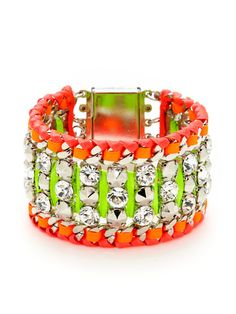 Neon 'Wild Kiss' Bracelet ☻                                                                                                                                                                  ⇜•ṄεΦЙ❉€яᗛƶΣ•⇝