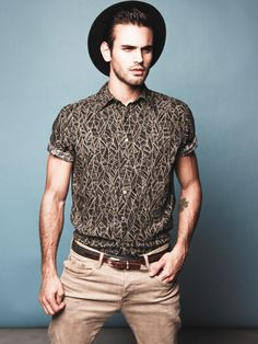 Pattern in men's fashion | Geometric Patterned Shirt