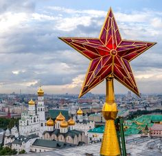 The ruby Kremlin stars are major symbols of Moscow. In 1937, the five Soviet pentagonal stars lit the Moscow sky replacing gems and two-headed Imperial eagles of the pre-revolution times.
