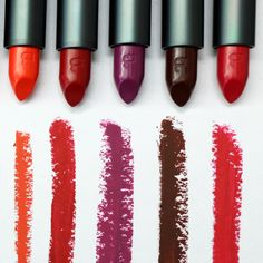 Lip Lab Limited Release shades 008-012.   Our individual #LLLR shades are still available online at Sephora .com and .ca! Bite Beauty, Best Lipsticks, Lipstick Swatches, Natural Looks, Sephora, Lab, Make Up, Shades, Natural Styles