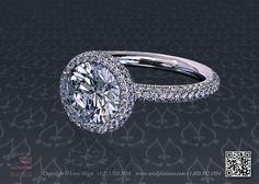 Round diamond halo engagement prongless ring by Leon Mege Platinum Jewelry, Gold Wire, High Jewelry, Halo Engagement, Solitaire Ring, Halo Diamond, Round Diamonds, Dream Wedding, Sunshine