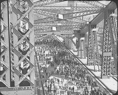 People walking across The Bridge, Sydney Harbour Bridge Celebrations, 19 March Hall & Co. Sydney City, Sydney Harbour Bridge, Australian Photography, Across The Bridge, Historical Images, Vacation Places, Australia Travel, Vintage Photos, City Photo