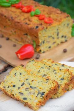 Vegetable terrine (pate with vegetables, pate meatless) Vegan Recipes, Cooking Recipes, Vegan Food, Polish Recipes, Ham And Cheese, Vegan Dinners, Vegetable Dishes, Banana Bread, Good Food